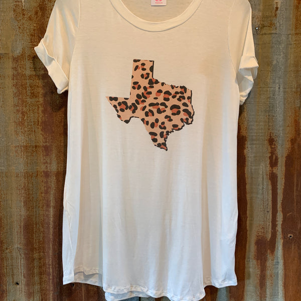 Leopard Texas top
