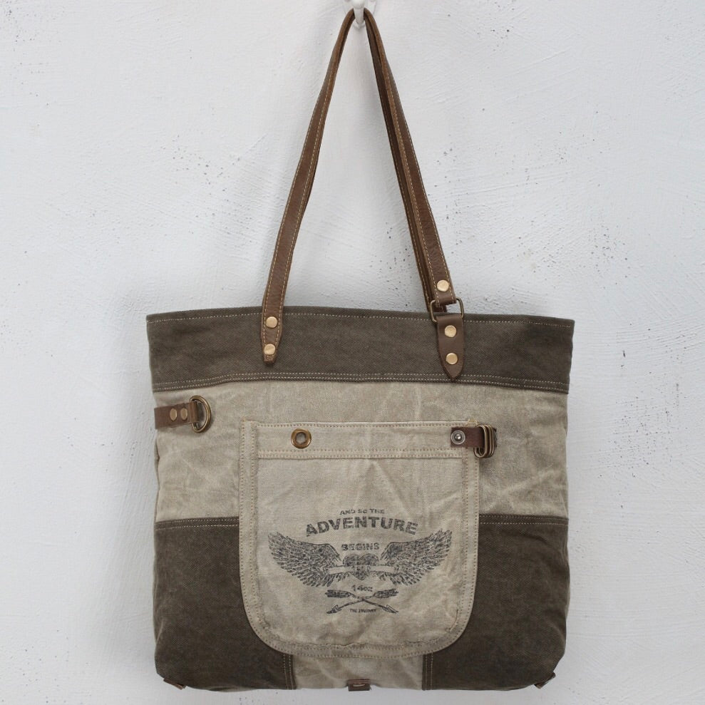 Adventure Canvas tote