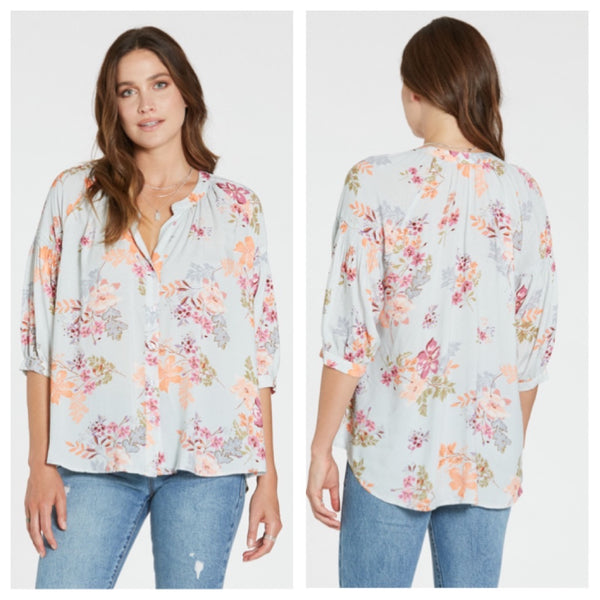 Dear John Audrey top - Spring in Bloom