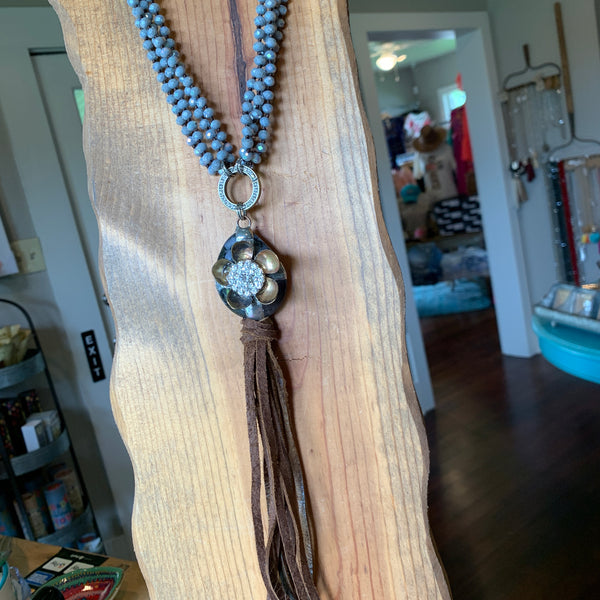 Multi Strand Cowbell Necklace