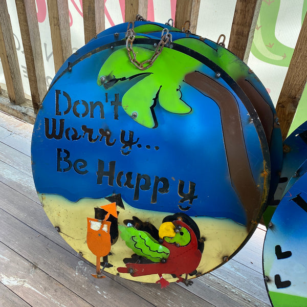 Metal-Don't Worry Be Happy sign