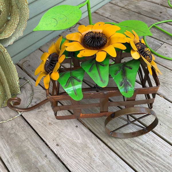 Metal-Sunflower Cart