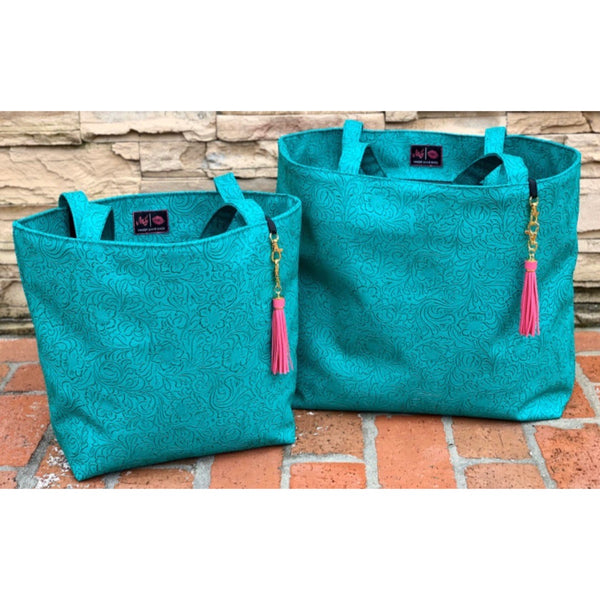 Makeup Junkie tote - turquoise dream