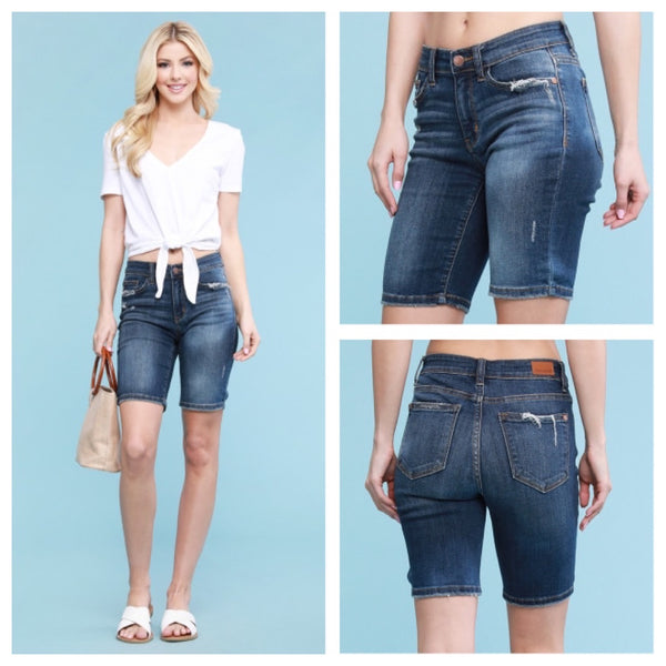 Bermuda denim shorts