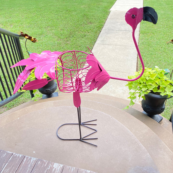 Metal-Flamingo Planter