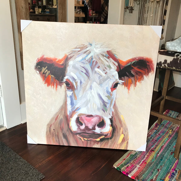 Cow portrait canvas