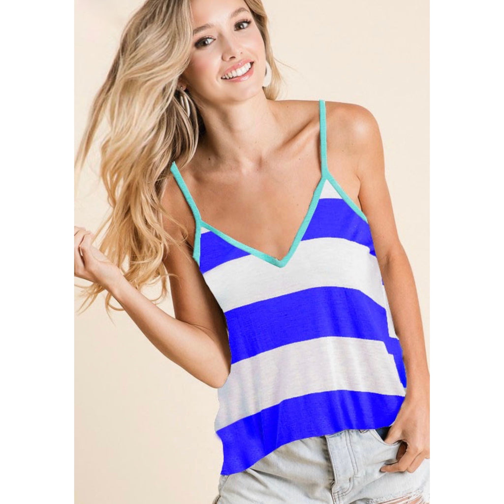 Pool Party top - blue