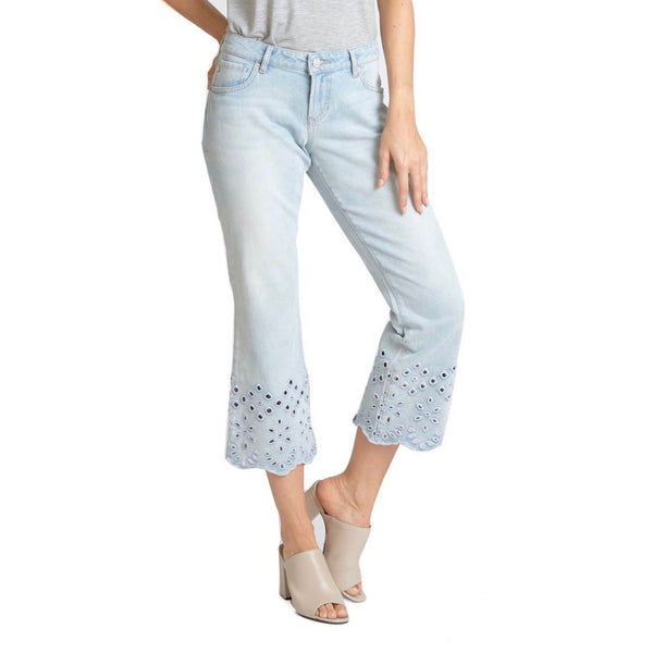 Dear John Candice cropped flare - wild skies