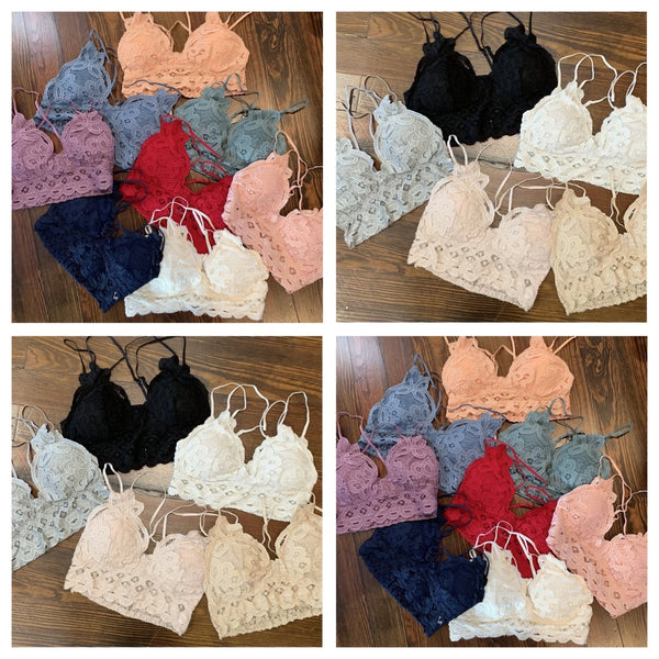 Adjustable Crochet Lace Bralette