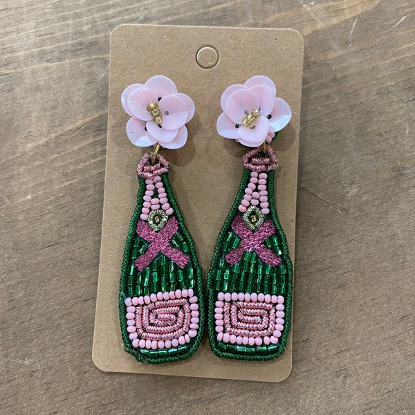 Beaded Pink Dos earrings
