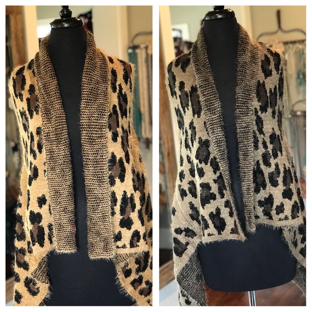 On The Go Leopard Sweater Vest