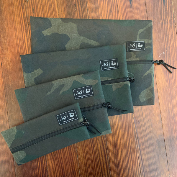"Makeup Junkie ""Man Junk"" Bag - Camo canvas"