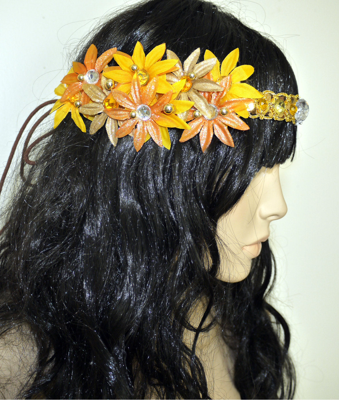 Sun And Moon Daisy Flower Crown Halloween Costume Headband Headpiece