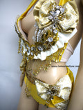 {SALE ITEM} Disney Beauty and the Beast Princess Belle Gold Plunge Bra Costume
