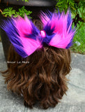 Alice In wonderland Cheshire Cat Fur Hair Bow Clip Headband
