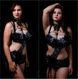 Black Diamond Fairy Monokini Bra and Shorts Costume