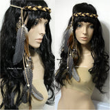 Brown Indian Headdress Feather Native Crown Feather Headband