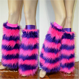 Alice In Wonderland Cheshire Cat Fur Leg Warmers Rave Fluffies