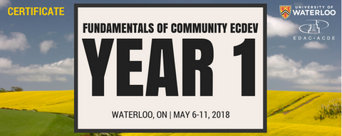 Fundamentals of Community Economic Development (Year 1) Waterloo - Accommodation & Meals