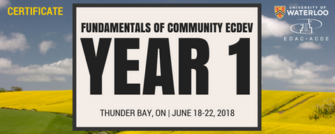 Fundamentals of Community Economic Development (Year 1) Thunder Bay - Registration