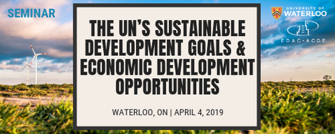 EDP Seminar - The UN's Sustainable Development Goals and Economic Development Opportunities