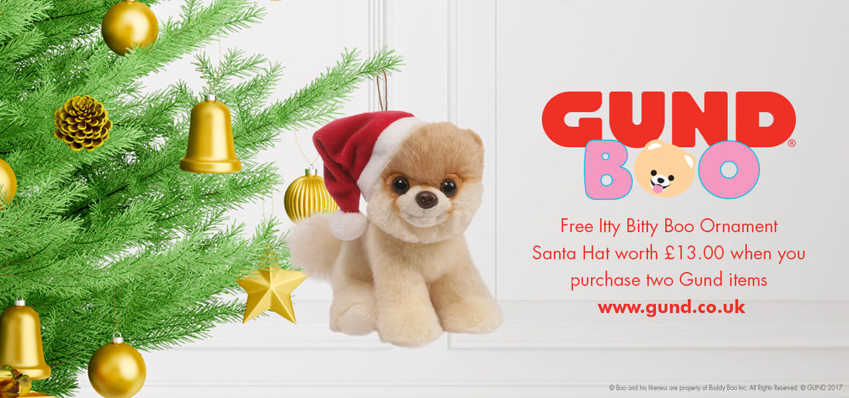 Free itty bitty boo ornament when you purchase two Gund items