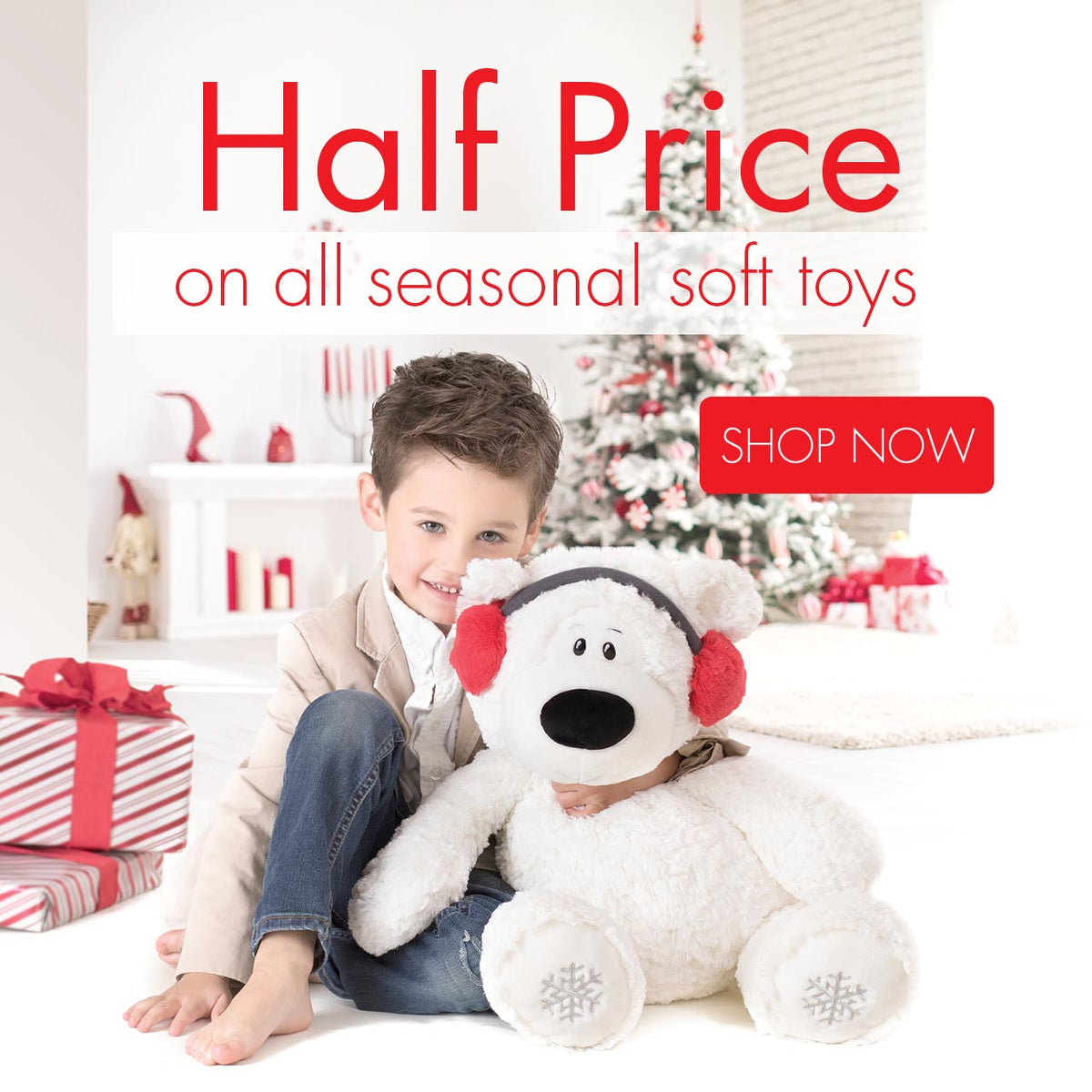 Half Price on all seasonal soft toys