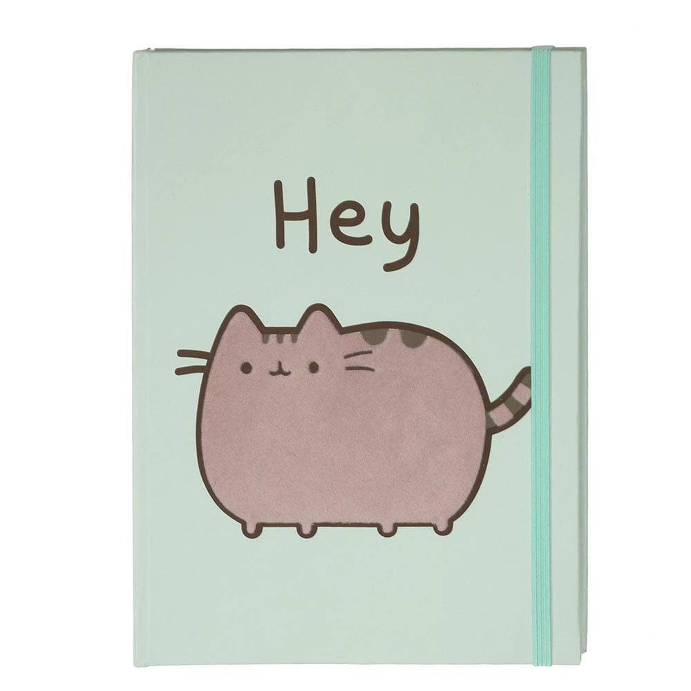 GUND Pusheen Flocked 'Hey' Journal