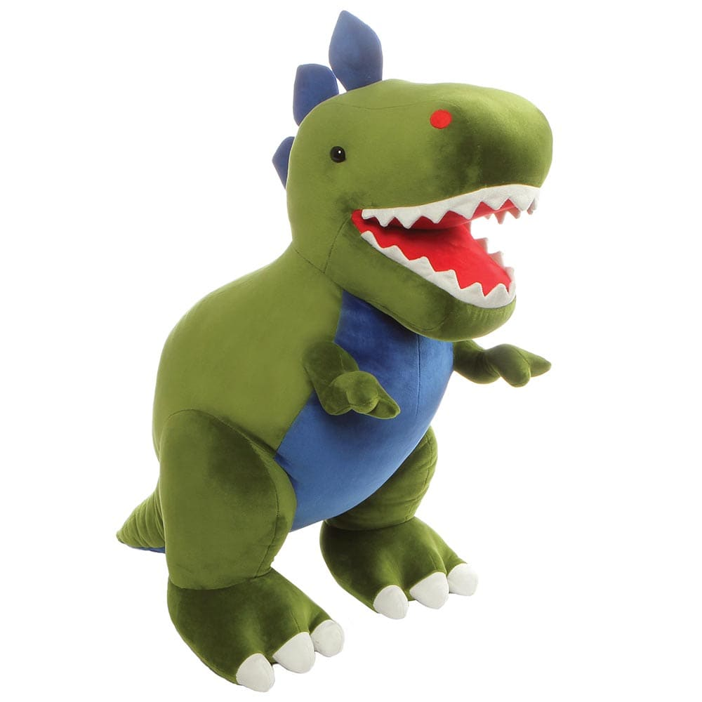 GUND Chomper Green Friendly Cuddly T-Rex Dino Jumbo Soft Toy