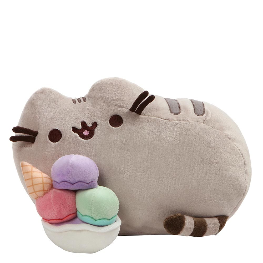 Pusheen Enjoying Icecream Sundae