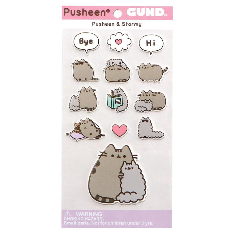 Pusheen And Stormy Best Friend Individual Puffy Stickers