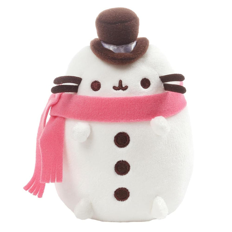 Pusheen Snowman Small Soft Toy With Cute Top Hat And Scarf