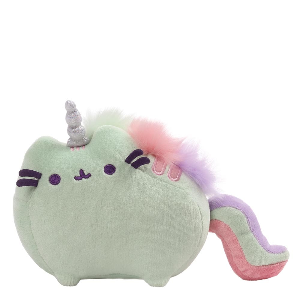 Pusheenicorn Sound Toy Green With Rainbow Mane And Tail