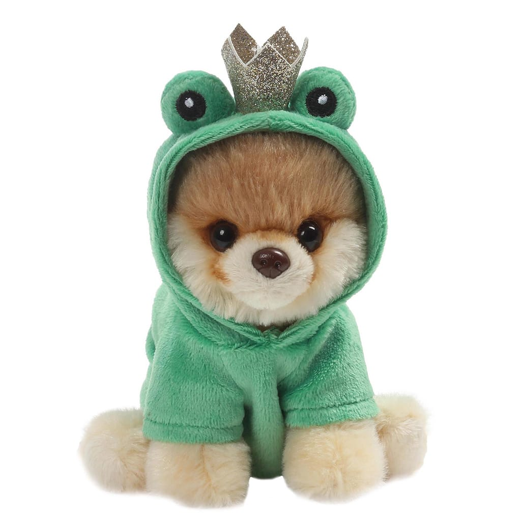GUND Itty Bitty Boo #048 Green Frog Soft Toy With Beady Eyes