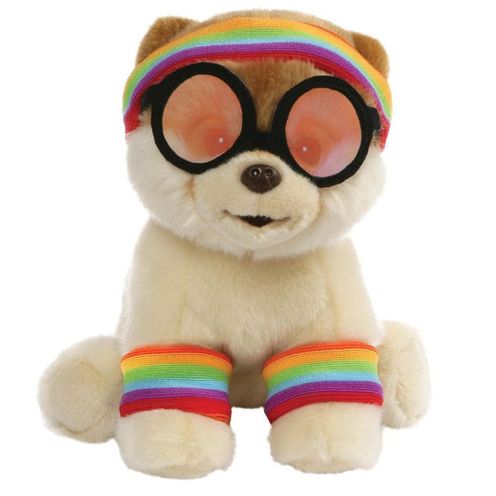 Gund Boo Exercise with Rainbow Bandana Headband Soft Toy