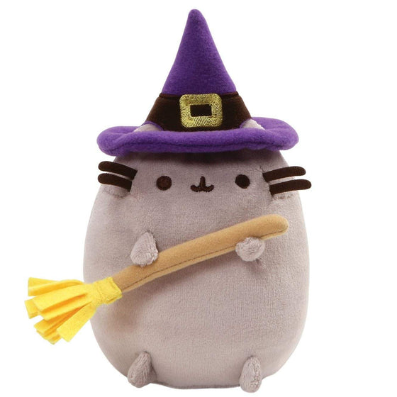 Pusheen Halloween Small Witch Soft Toy With Hat And Broom