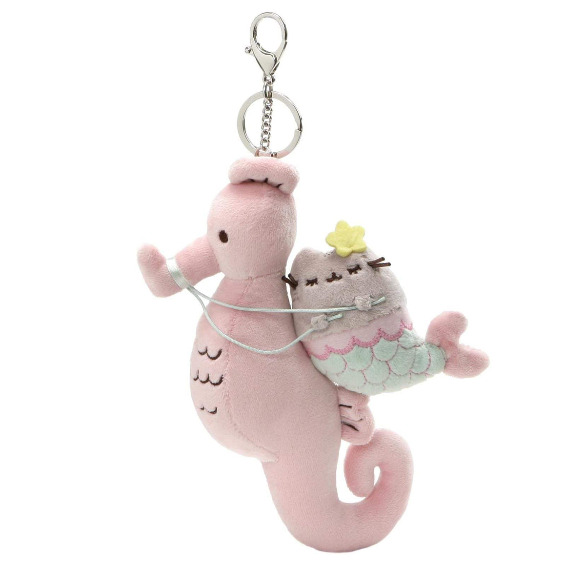 GUND Pusheen Mermaid Pusheen and Seahorse Deluxe Clip
