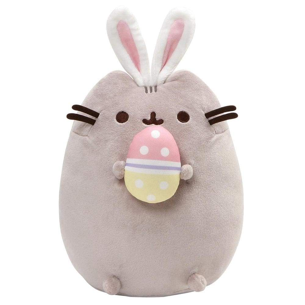 Kittens Pusheen Easter Bunny Snackable With Egg And Bunny Ears Soft Toy Tumblr Pusheen Official Cute Soft Toy Collection From Gund
