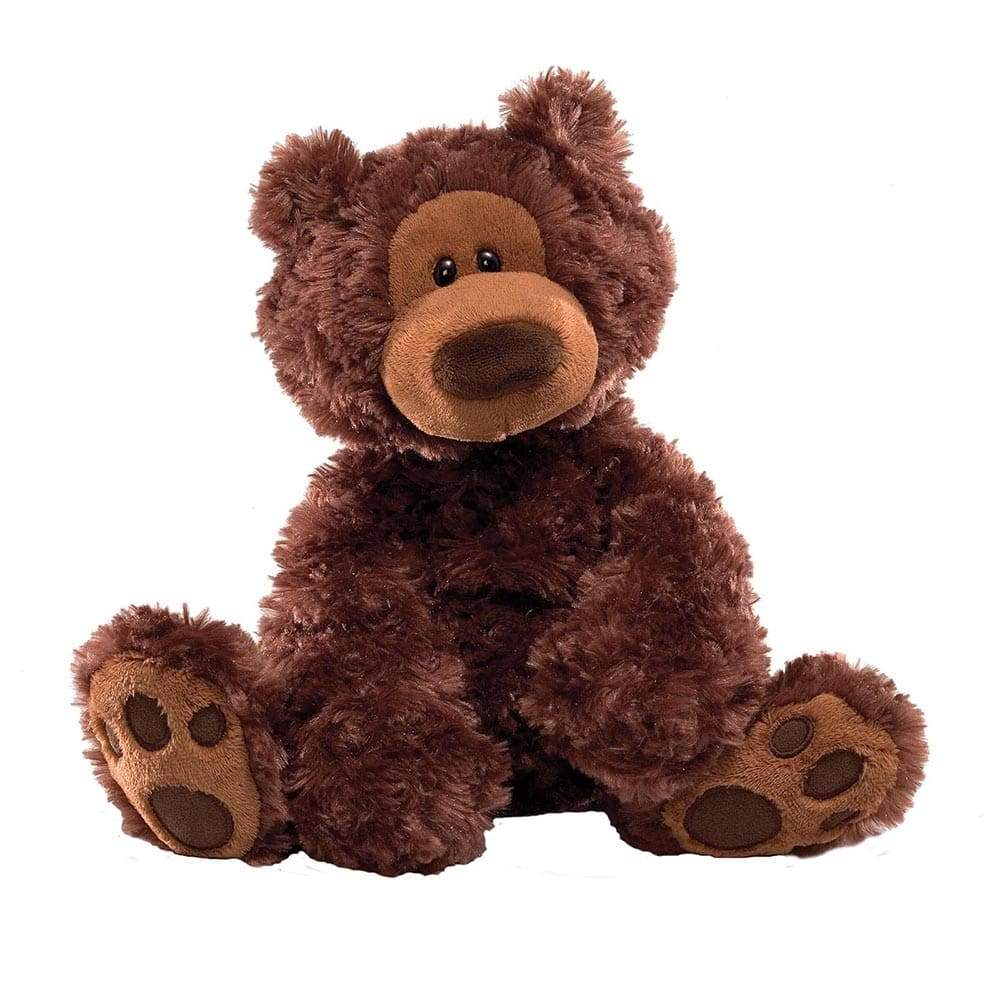 Philbin Bear Chocolate Medium Soft Toy by Gund