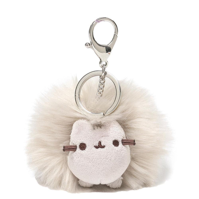 Pusheen Grey Pom Key Ring