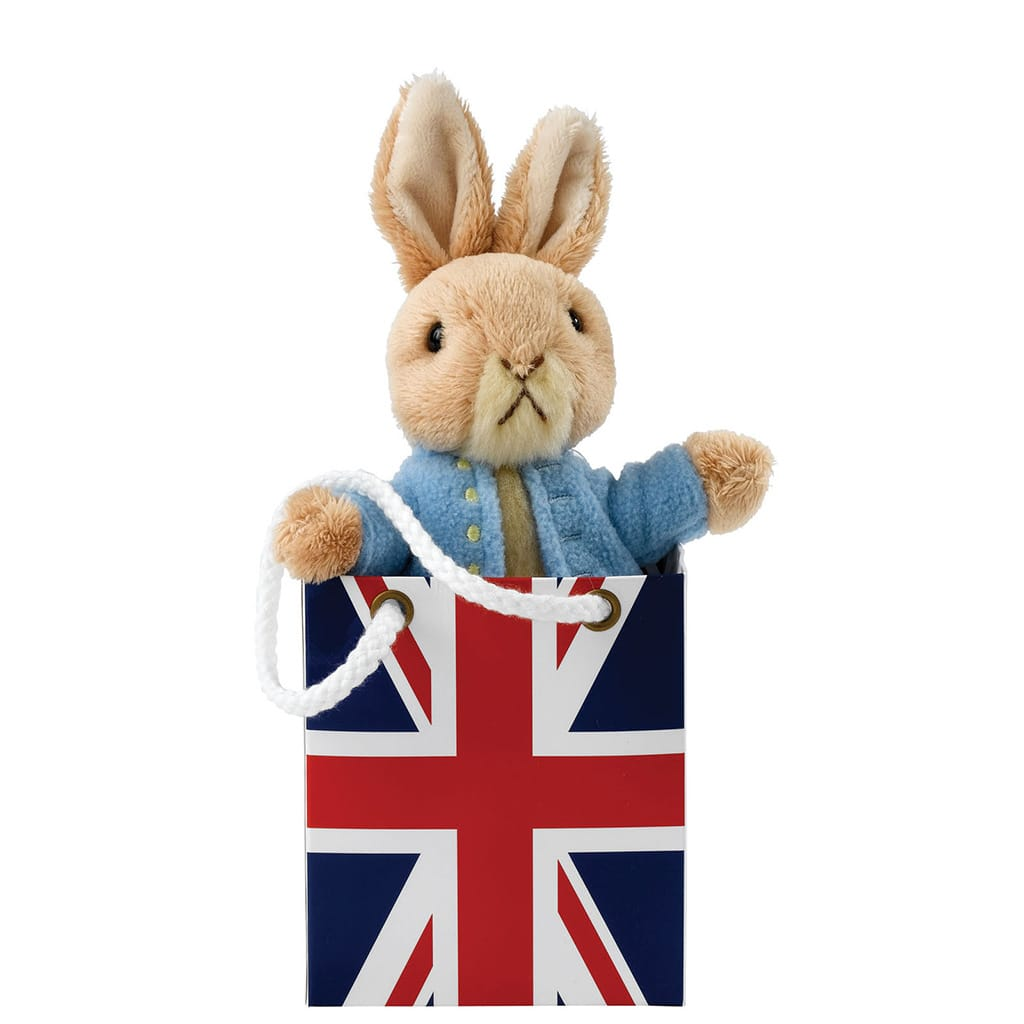 Peter Rabbit in Union Jack Bag Soft Toy - Peter Rabbit by Gund