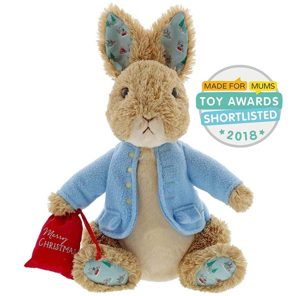 Beatrix Potter Peter Rabbit Christmas Large Soft Toy
