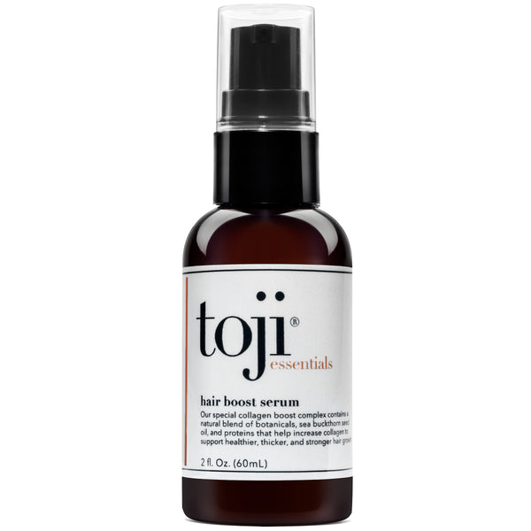 Toji: Essentials Hair Boost Serum w/ Special Collagen Boost Complex | Naturally Supports Hair Growth For Men and Women (2 Oz.)