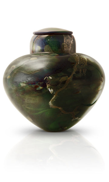 hand blown glass cremation urns emerald river