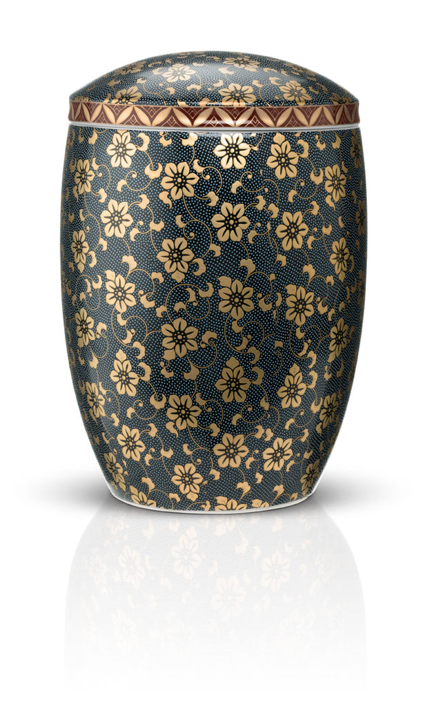 japanese ceramic cremation urns for ashes imperial blue urns in style