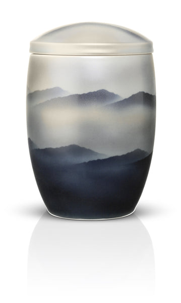 japanese ceramic cremation urns for ashes misty mountain urns in style