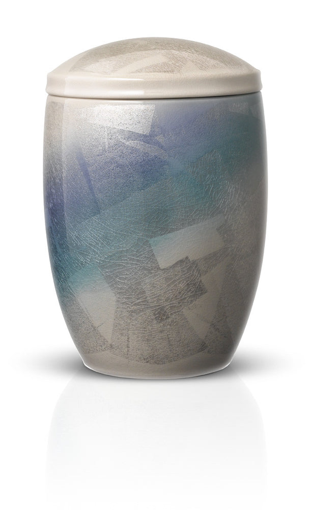 japanese cremation urns for ashes cerulean mist urns in style
