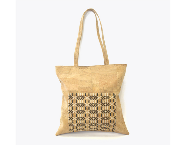 Vegan Shopping Bag | Ethnic Black - Vegan Shoes Rutz