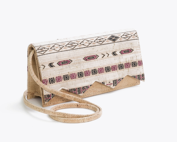 Vegan Clutch (medium) | Ethnic Lilac - Vegan Shoes Rutz
