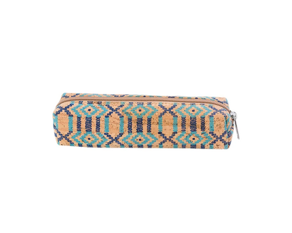Pencil & Pen Case | Ethnic Blue - Vegan Shoes Rutz